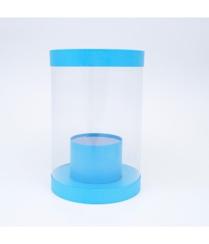 Коробка аквариум 20*30 см голубой лен блеск