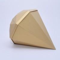 "Коробка в форме ""бриллианта"" 30*30*10 см золотая"