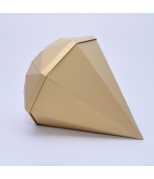 """Коробка """"Діамант"""" 30*30*10 см золота"""