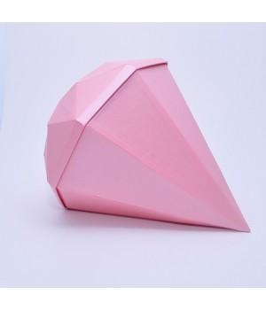 """Коробка """"Діамант"""" 30*30*10 см рожева з блиском"""