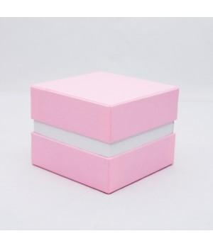 Коробка кришка -дно з проставкою 11*11*9 см рожева