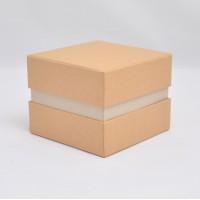 Коробка крышка -дно с проставкой 11*11*9 см крафтовая