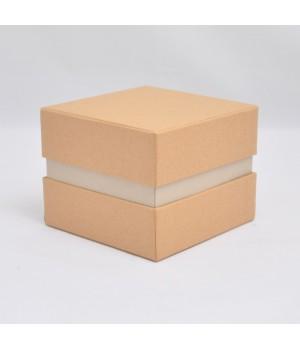 Коробка кришка -дно с проставкой 11*11*9 см крафтова