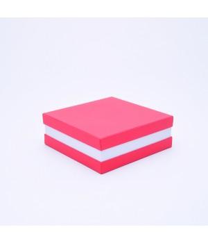 Коробка кришка -дно з проставкою 17*17*6 см червона (колор)