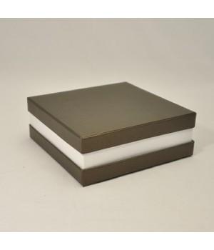 Коробка кришка -дно з проставкою 17*17*6 см коричневий (малмеро)