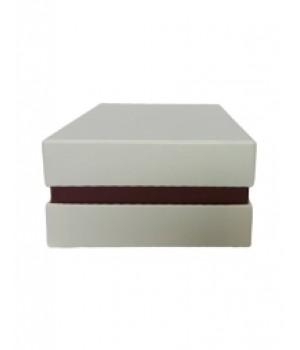 Коробка кришка -дно з проставкою 11*11*9 см бежева