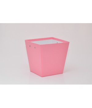 """Коробка """"Трапеція"""" 20*15*20 см рожевий льон блиск"""