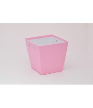 Трапеция 20*15*20 см розовый колор