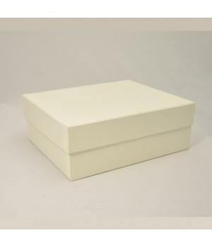 Подарочная коробка крышка-дно 27x23x10см айвори/слоновая кость