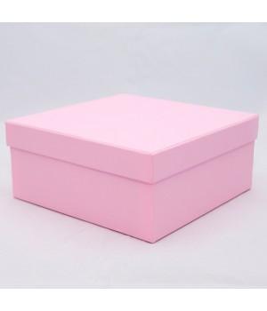 Подарочная коробка крышка-дно 18х18х8 см россо