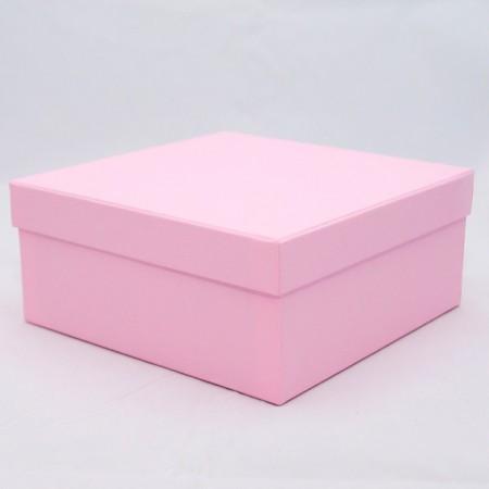 Коробка кришка-дно 27,5*23*10 см  рожева (Rosa Clariana)