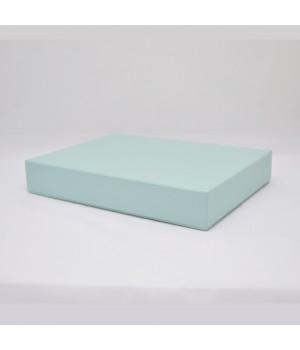 Коробка крышка-дно 40*30*6,5 см мятная с блеском