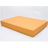 Коробка крышка-дно 35*20*8,5 см золото лен с блеском