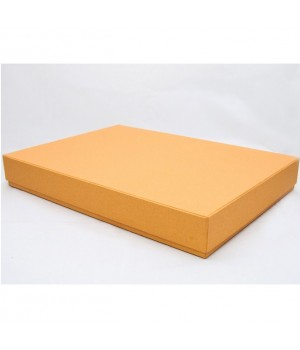Коробка кришка-дно 35*20*8,5 см золото льон з блиском