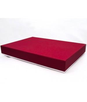 Подарочная коробка крышка-дно 50х35х7 см бордовая