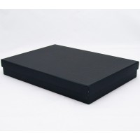 Подарочная коробка крышка-дно 30х20х4 см черная с блеском