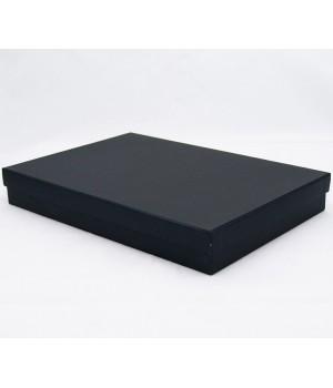 Коробка крышка-дно 25*20,5*3,5 см чёрная матовая