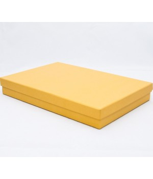 Коробка кришка-дно 25*20,5*3,5 см  золота з блиском