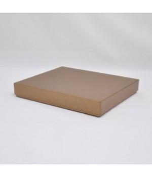 Коробка кришка-дно 40*30*6,5 см бронза (крапка) з блиском