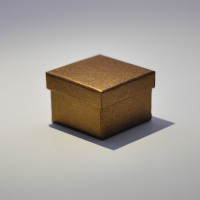 Подарочная коробка крышка-дно 5x5x3,5 см бронзовая