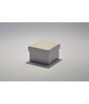 Коробка кришка-дно 5*5*3,5 см срібла