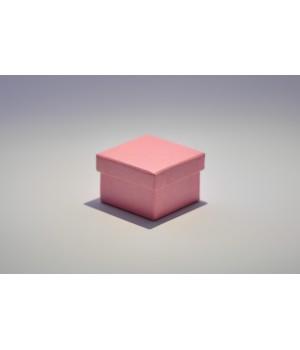 Коробка кришка-дно 5*5*3,5 см рожева з блиском