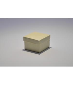 Коробка кришка-дно 5*5*3,5 см світло-золота