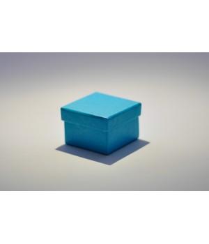 Коробка кришка-дно 5*5*3,5 см блакитна з блиском