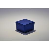 Подарочная коробка крышка-дно 5x5x3,5 см синяя с блеском