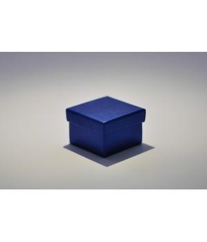 Коробка кришка-дно 5*5*3,5 см синя з блиском