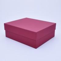 Коробка крышка-дно 18*18*8 см бордовая