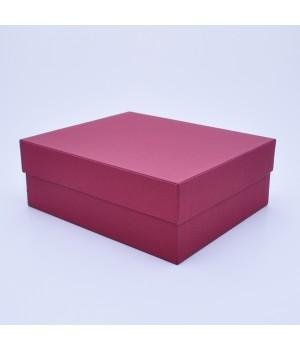 Подарочная коробка крышка-дно 27x23x10 см бордовая