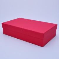 Подарочная коробка крышка-дно 35*20*8,5 см красная