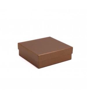 Коробка крышка-дно 27,5*23*10 см бронза лен с блеском