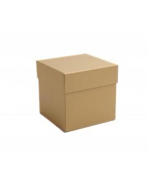 Коробка кришка-дно 14*14*14 см см бронза льон з блиском