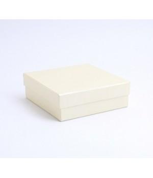 Коробка крышка-дно 35*20*8,5 см белое золото с блеском