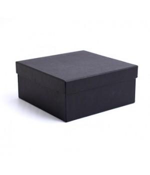 Коробка кришка-дно 18*18*8 см  чорна (Creativ board black)