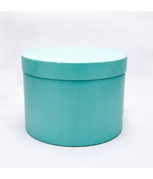 Кругла коробка 20*20 см без кришки бірюзова (ефалін)