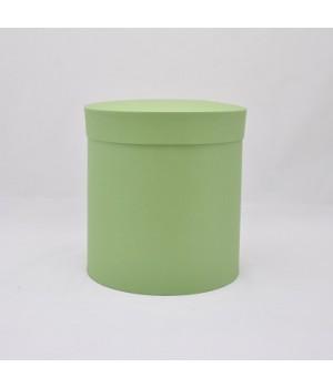 Кругла коробка 20*20 см з кришкою фісташковий колор