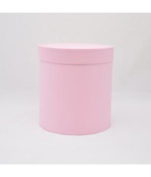 Кругла коробка 15 * 17 см з кришкой рожева (Clariana)