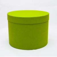 Круглая коробка 20*15 см салатовый
