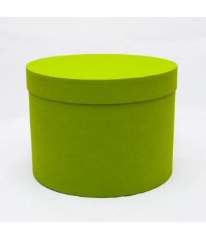Кругла коробка 20*15 см з кришкою салатовий (ефалін)