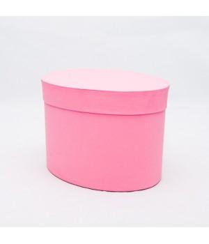 Коробка овал 17*13*13 см рожевий вудстук