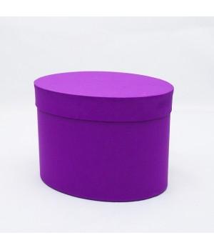 Коробка овал 17*13*13 см фіолетовий колор