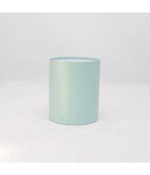 Круглая коробка 11,6*14 см без крышки мятный нитки блеск