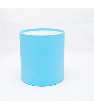 Кругла коробка 11,5*14 см без кришки блакитна (Clarina)