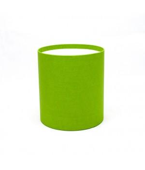 Кругла коробка 11,5*14 см без кришки  зел.яблоко (ефалін)