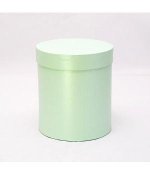 Кругла коробка 15 * 17 см з кришкою світло-зелена (Clariana)