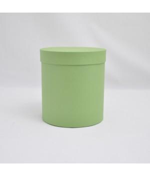 Кругла коробка 25* 27 см з кришкою салатовий (ефалін)