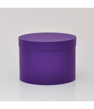 Кругла коробка  20*15 см з кришкою фіолетова (ефалин)